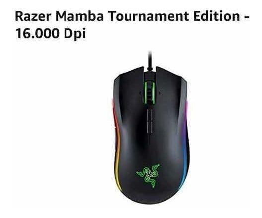 Mouse Gamer Razer- Mamba Tournament Edition- 16.000 Dpi