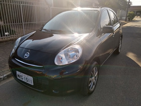 Nissan March S 1.6 16v Flex Fuel 5p Preto Ipva Pago