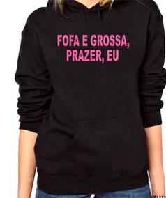 Blusa De Moletom Feminino Top Blogueirinha Fofa E Grossa