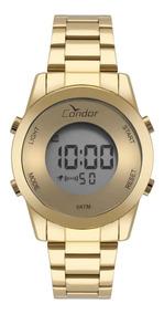 Relógio Condor Feminino Digital Dourado A Vist Cobj3279aa/4d