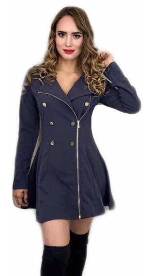 Gabardina Abrigo Tipo Vestido Americana