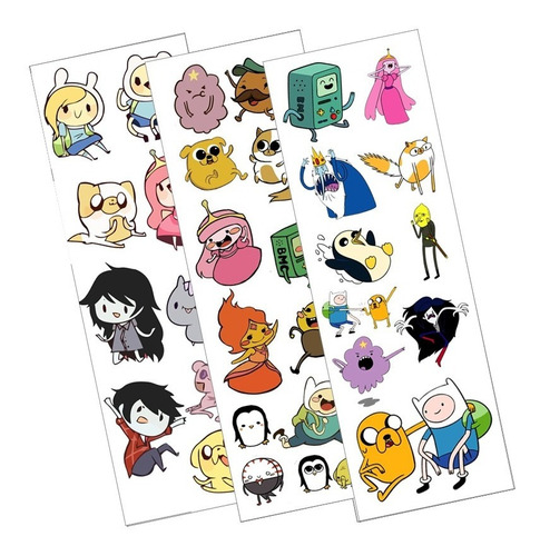 Plancha De Stickers De Anime De Hora De Aventura Jake Finn