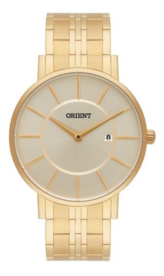 Relógio Orient Masculino Eternal Slim Mgss1091 C1kx Dourado