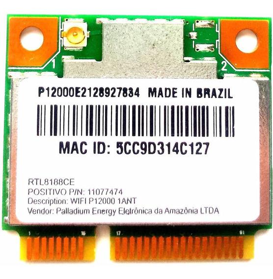 Placa Wireless Wifi Rtl8188ce 11077474 1 Conector Wn6606lh