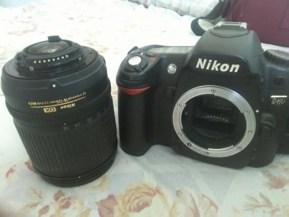 Nikon D80 + Lente Dx 18-135mm + Bag