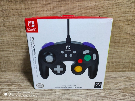 Controle Nintendo Switch Preto Game Cube Style Power A