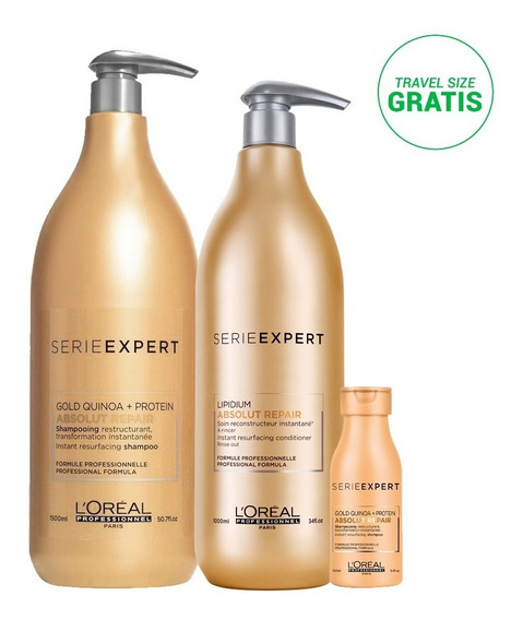 Kit Absolut Repair: Shampoo + Acondicionador + Travel Size