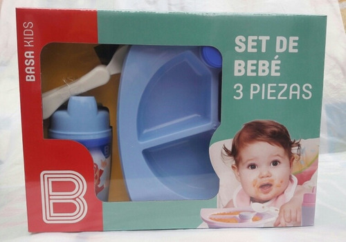 Plato Termico + Cubiertos + Vaso Tomatodo Para Bebe - Basa