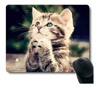Almohadilla Para Raton De Divertido Gato Vestido Como Rambo