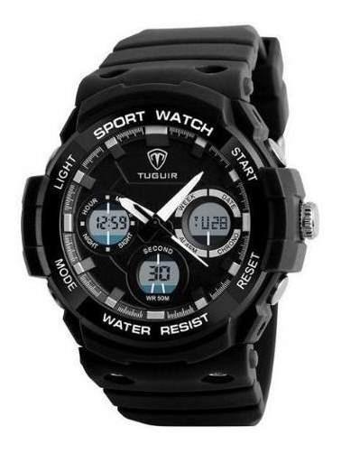 Relógio Masculino Tuguir Anadigi Tg1247 Preto
