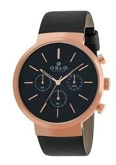 Relógio Oslo Omrsccvd0001 P1px Preto Original