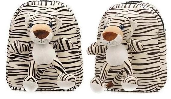 Juguete Mochila Infantil Tigre De Felpa 32x28cm (mbf)