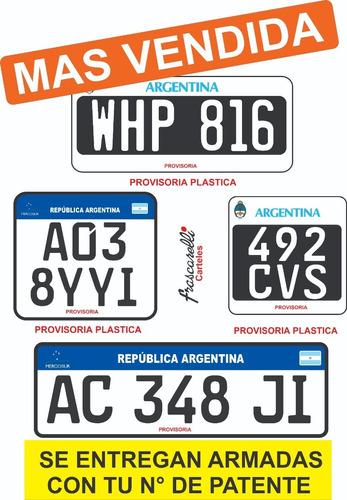 Chapas Patentes Provisorias De Pvc Con Envío Gratis