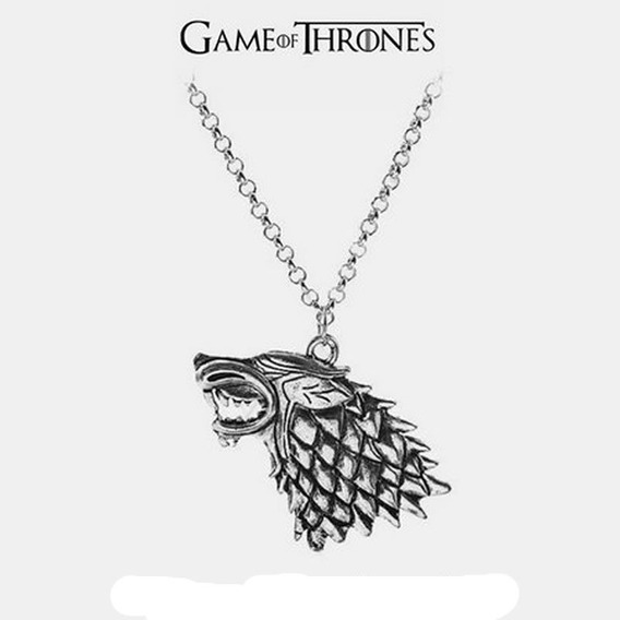Colar Brasão Lobo Casa Stark - Game Of Thrones