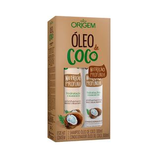 Kit Óleo De Coco Origem Nazca - Sh + Condicionador 300ml
