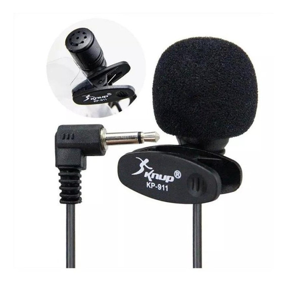 Microfone De Lapela 3.5mm Stereo P2 Knup Kp911