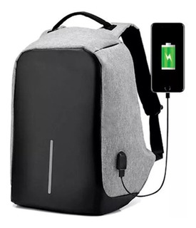 Mochila Antirrobo Urbana Smart Carga Con Puerto Usb Y Cable Acolchada Notebook Tablet Celular Laptop 15.6 Unisex
