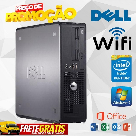 Computador Pc Cpu Dell Optiplex 1gb Hd 80gb
