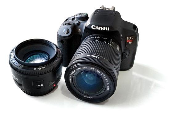 Câmera Canon T5i Lente 18-135mm E 50mm F1.8