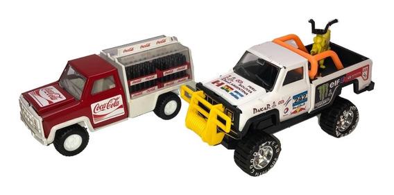 Camioneta Dakar Y Camion De Cacacola Auto Juguete Metal