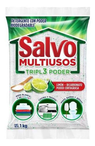 Detergente Salvo Multiusos Triple Poder 1 Kg