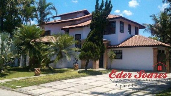 Casa Para Comprar Em Cond. Fechado Com 6 Suítes Em Bertioga - Es999