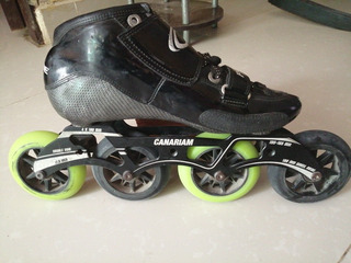 Patines Canariam Negros Talla 40 Chasis 195-165 Mm