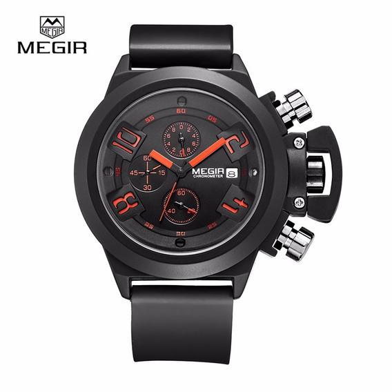 Relógio Megir 2002 Bonito Design Unico Qualidade Otimo Custo