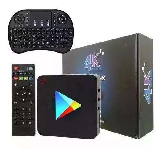 Tv Box Smart C/ Teclado De Brinde 16gb 2gb Netflix Youtube