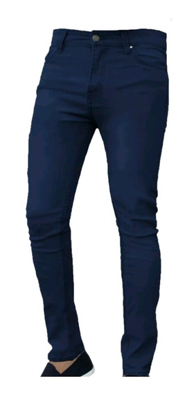 Jeans Chupin Color Hombre Elastizado Be Yourself Ventas