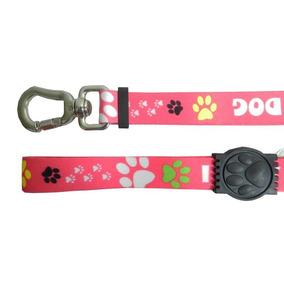 Cinto De Segurança Com Guia I Love My Dog 1m Rosa - Waypet