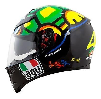 Capacete Agv K3 Sv Turtle Réplica Rossi Tartaruga Original