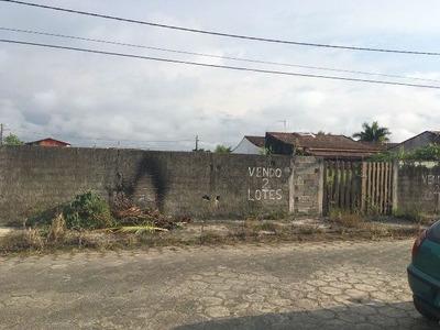 Terreno Murado Com 520 M² Em Itanhaém-sp - 4517/p