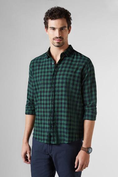 Camisa Regular Vichy Flame Reserva
