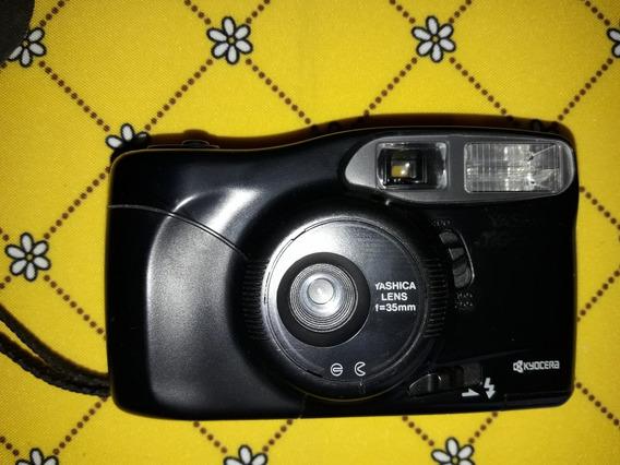 Câmera Máquina Fotográfica Yashica Lens F=35mm - Funcionando