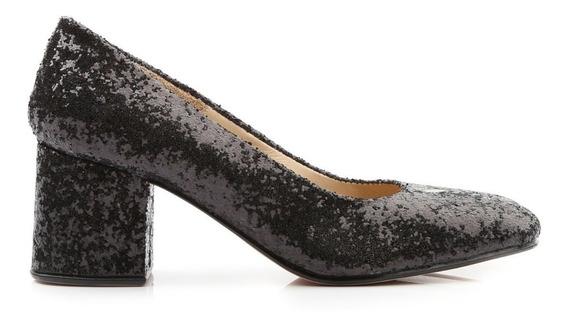Zapatos De Mujer De Glitter Taco Bajo Radiohead - Ferraro -