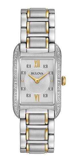 Relógio Bulova 98r227 Prateado Aço Inox 12xs/juros Promoção