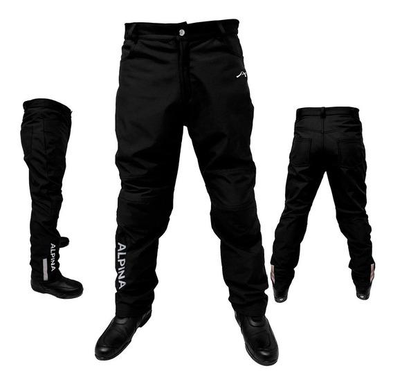 Pantalon Termico Softshell Protecciones Agua Alpina Sti Moto