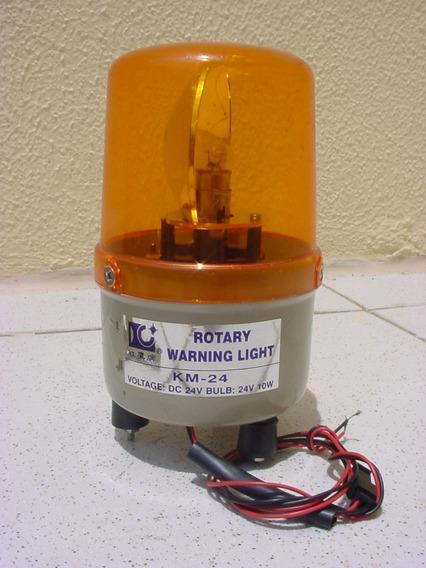 Giroflex Luz Emergência Sinalizador 24 Volts10 Watts Rotary.