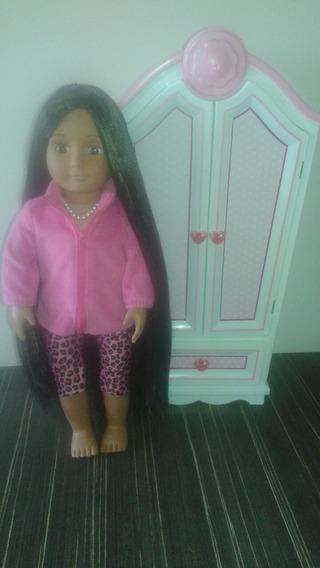 Muñeca Tipo American Girl Battat Con Ropa Y Closet