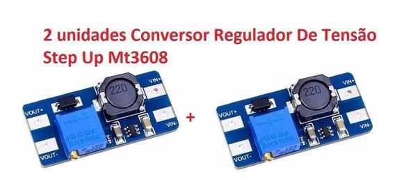 2 Unidades Conversor Regulador De Tensão Step Up Mt3608