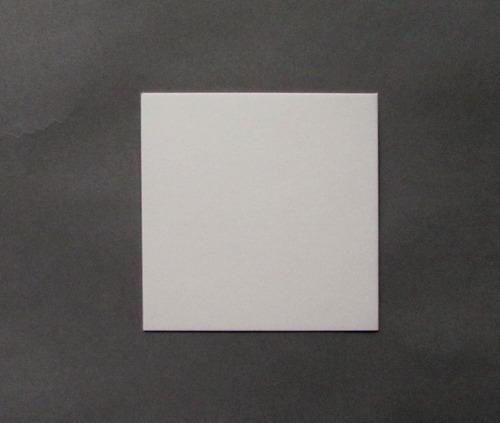 Imagen 1 de 1 de Base Cuadrada Plastif. Ppm Blanco Mate 10x10 Cm (x 100 U.)