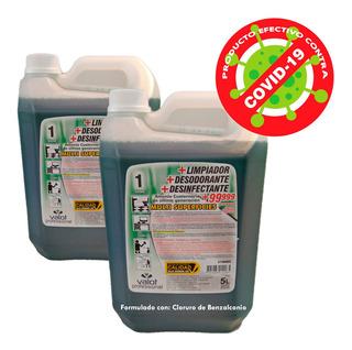 Limpiador Desinfectante Desodorante X 5 Lts Caja X 2un Valot