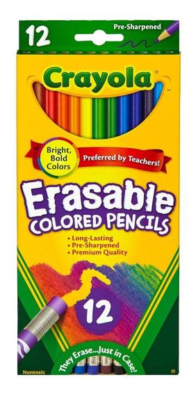 Lápices Dibujo Borrables Crayola Largos T Oficial X 12 Col