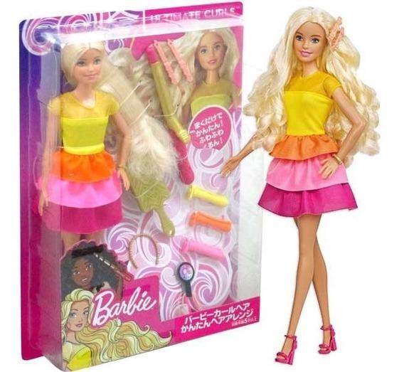 Boneca Barbie Penteados Dos Sonhos Com Acessórios