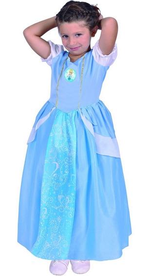 Disfraz De Cenicienta Con Luz Talle 2 Original De Disney