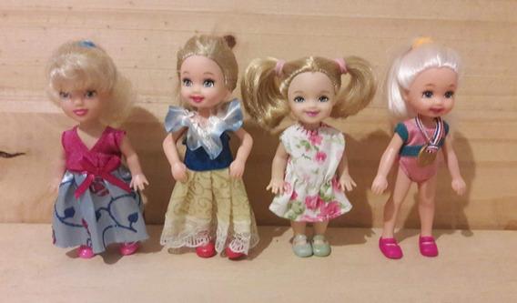 Lote Com 4 Bonequinhas Mini 10 Cm - Kelly - Mattel E Disney