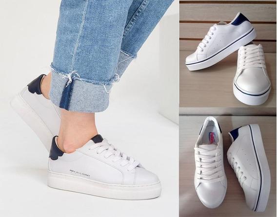 Tenis Zapatilla Zapato Deportivo Blanco Para Dama Tipo Jolly