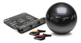 Pelota De Yoga 77 Cm + Tapete 181 Cm Y 2 Ligas Sklz Fitness