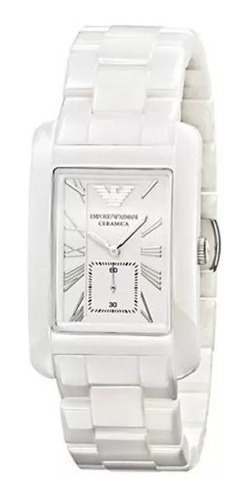 Relógio Empório Armani Ar1408 Cerâmica Branca Promoção Qdr